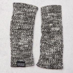 Adrian Hammond Ace Knitted Mittens Dark Grey