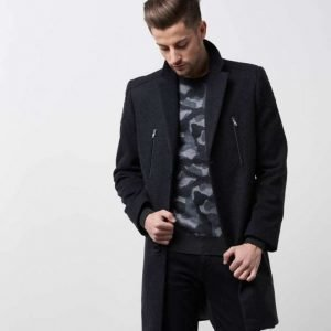 Adrian Hammond Alec Coat Dark Grey Melange