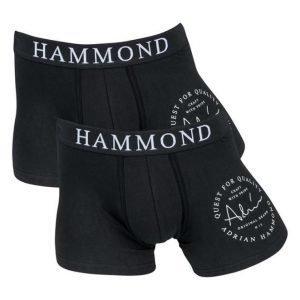 Adrian Hammond Bart 2-pack Boxer Black