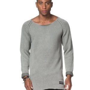 Adrian Hammond Buddy Knitted Sweater Washed Lt Grey