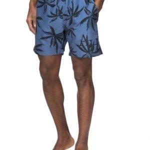 Adrian Hammond Dylan Printed Beach Shorts Blue