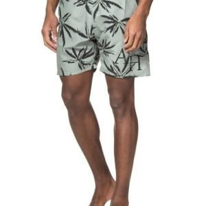 Adrian Hammond Dylan Printed Beach Shorts Green