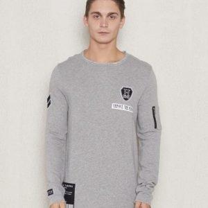 Adrian Hammond Frans Sweater Grey Melange