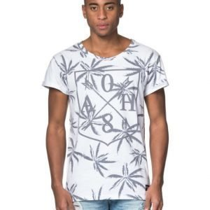 Adrian Hammond Hampus Palm Tee AOP White