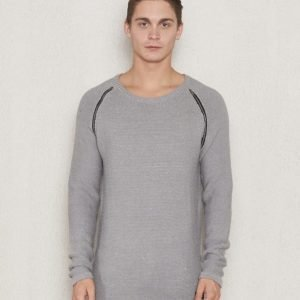 Adrian Hammond Ken Knitted Sweater Light Grey Melange