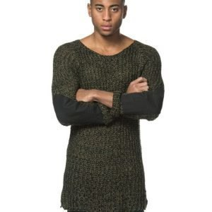 Adrian Hammond Marty Knitted Sweater Khaki Green