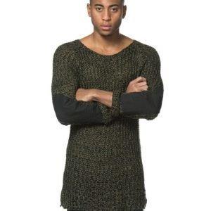 Adrian Hammond Marty Knitted Sweater Khaki Green