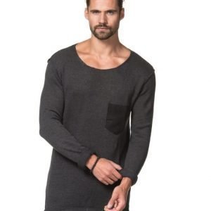 Adrian Hammond Matty Knitted Sweater Dark Grey Melange