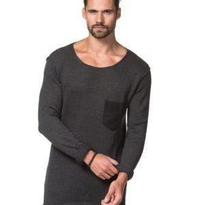 Adrian Hammond Matty Knitted Sweater Dark Grey Melange
