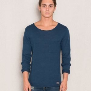 Adrian Hammond Nathan Knitted Sweater Petrolium