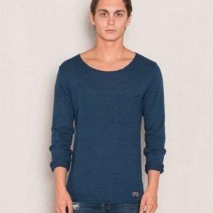 Adrian Hammond Nathan Knitted Sweater Petrolium