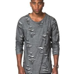 Adrian Hammond Stan Ripped Sweater Grey
