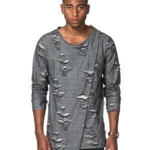 Adrian Hammond Stan Ripped Sweater Grey
