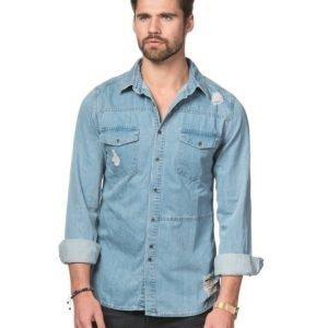 Adrian Hammond Wade Denim Shirt Light Blue