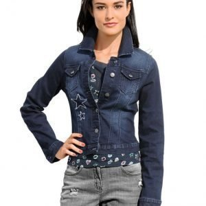 Alba Moda Green Farkkutakki Blue Denim