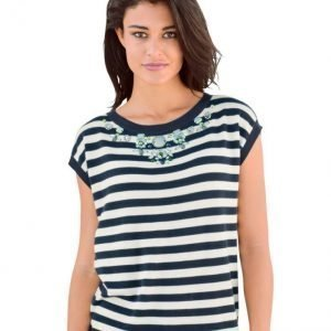 Alba Moda Green Neulepusero Navy / White / Green