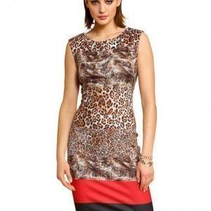 Alba Moda Red Mekko Leopardi / Musta / Punainen