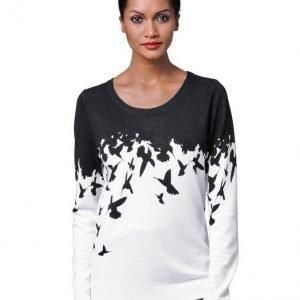 Alba Moda White Neulepusero Musta / Valkoinen