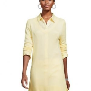 Alba Moda White Neulepusero Yellow