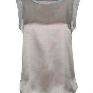 Alba Moda White Silkkitoppi Harmaa