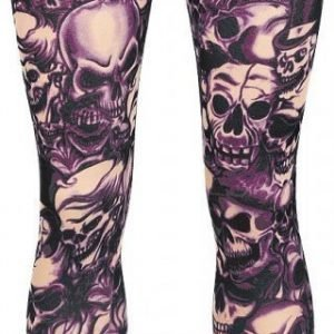 Alcatraz Purple Skull Legginsit