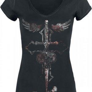Alchemy England Cross Dagger Naisten T-paita