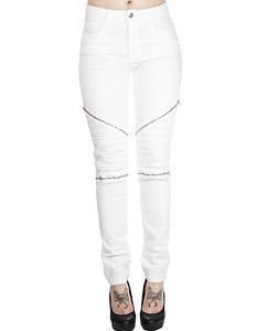 Alline Stretch Biker White
