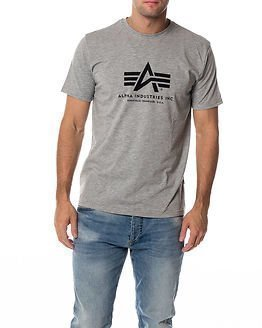Alpha Industries Basic Alpha T-shirt Grey