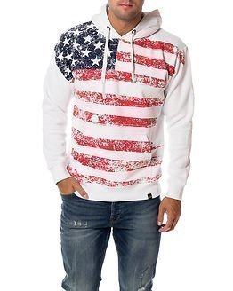 Alpha Industries Flag Hoody White