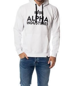 Alpha Industries Foam Print Hoody White