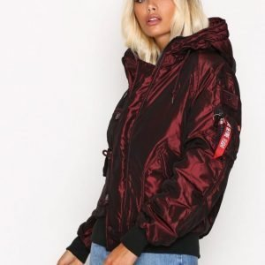 Alpha Industries Hunter Ii Bomber Takki Burgundy