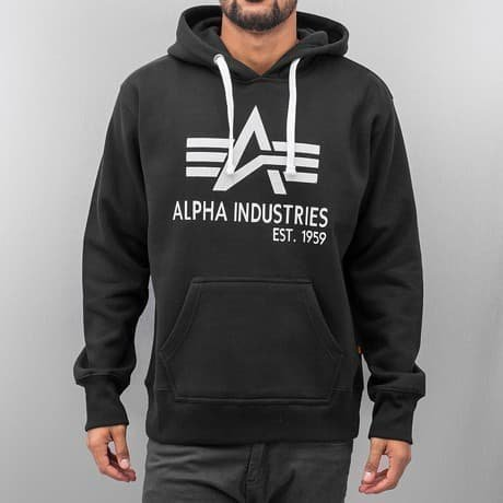 Alpha Industries Huppari Musta