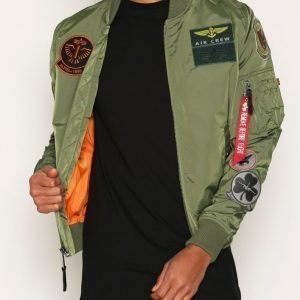 Alpha Industries MA-1 TT Patch Takki Green