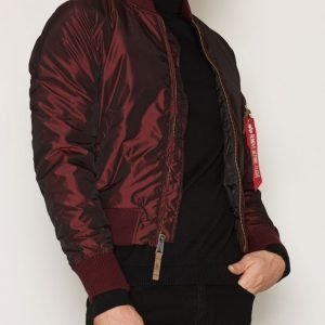 Alpha Industries MA-1 VF 59 Iridium Bomber-takki Burgundy
