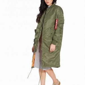Alpha Industries Ma-1 Coat Wmn Bomber Takki Green