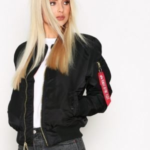 Alpha Industries Ma-1 Sf Wmn 80'S Oversize Bomber Takki Black
