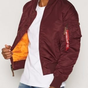 Alpha Industries Ma-1 VF59 Bomber-takki Burgundy