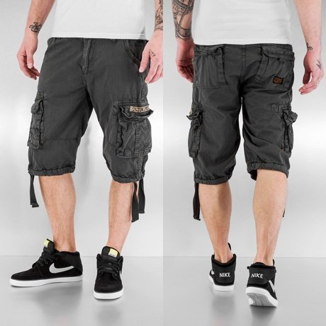 Alpha Industries Shortsit Harmaa