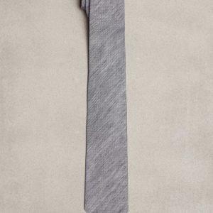 Amanda Christensen Classic Tie Linen Silk Solmio Navy
