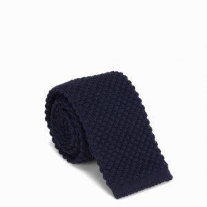 Amanda Christensen Knitted Slim Tie Solmio Navy