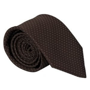 Amanda Christensen Micro Dot Tie 8 cm Brown/White
