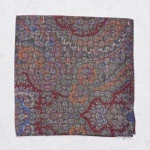 Amanda Christensen Pocket Square Burgundy