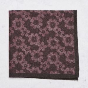 Amanda Christensen Pocket Square Burgundy
