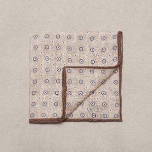 Amanda Christensen Pocket Square Linen Cotton Taskuliina Hiekka