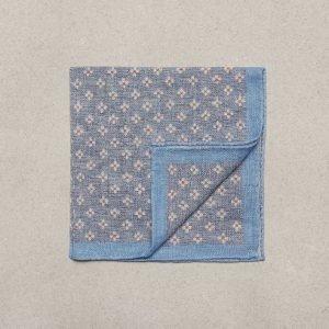 Amanda Christensen Pocket Square Linen Cotton Taskuliina Vaaleansininen