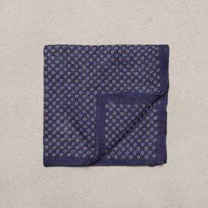 Amanda Christensen Pocket Square Linen Taskuliina Navy