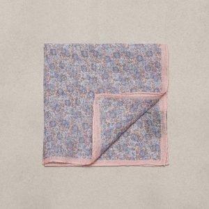 Amanda Christensen Pocket Square Linen Taskuliina Pink