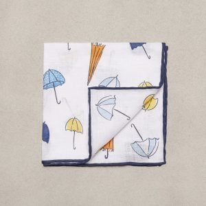 Amanda Christensen Pocket Square Linen Taskuliina White