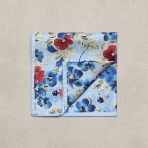 Amanda Christensen Pocket Square Silk Taskuliina Sky