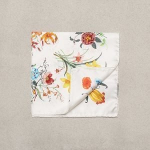 Amanda Christensen Pocket Square Silk Taskuliina White